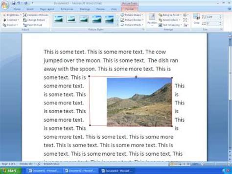 tutorial youtube word 2007 word 2007 tutorial 10 working with pictures youtube
