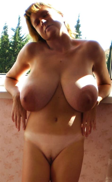 Russian Woman With Amazing Giant Saggy Huge Boobs 46