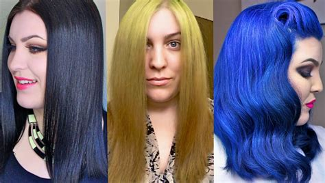 what to dye your hair when its black hair transformation box dye black to blonde to blue