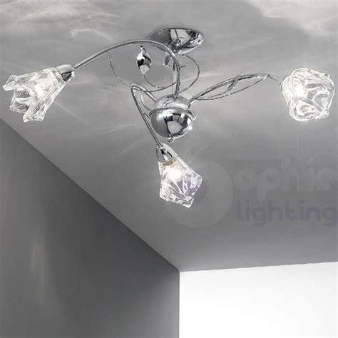 plafoniere a soffitto moderne plafoniera soffitto 3 bracci foglie design moderno