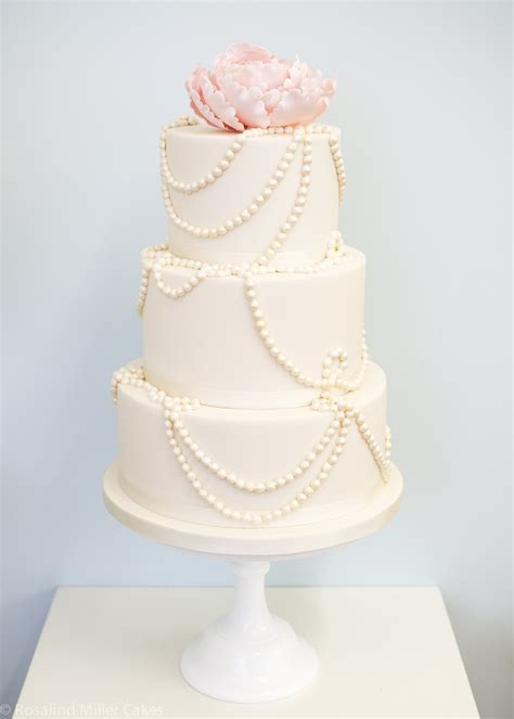 Wedding Cakes With Pearls by Wedding Cakes Rosalind Miller Cakes Uk
