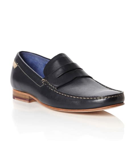 ted baker mens loafers ted baker victric 3 leather loafers in blue for