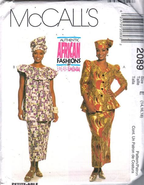 sewing patterns in south africa mccalls 2089 misses authentic african skirt top jacket hat