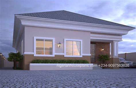 how to design houses 4 bedroom bungalow ref 4012 nigerianhouseplans