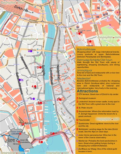 futon zürich zurich tourist map tourist map of surroundings of z 195 188 rich