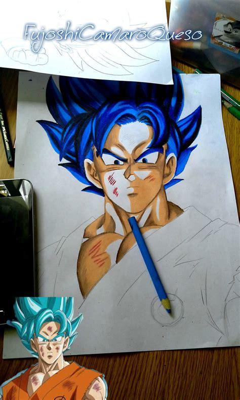 imagenes goku ssj dios azul goku ssj dios azul por fujoshicamaronqueso dibujando