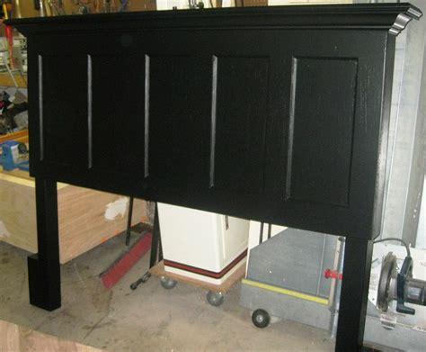 headboard made from a door 90 year old 5 panel door made into king size headboard