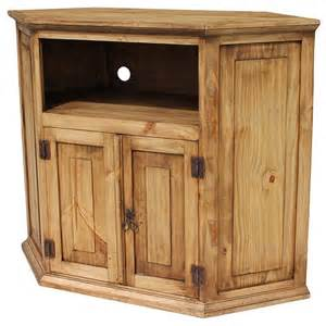 rustic pine collection corner tv stand com11