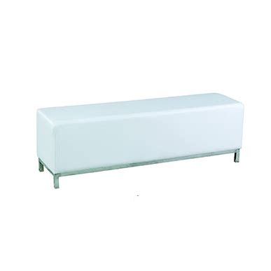 white ottoman bench ottoman bench white chair hire co