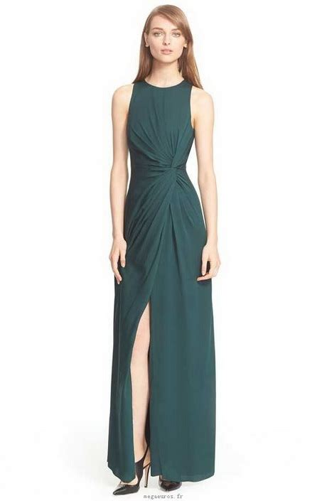 Robe Soirée Vert Bouteille - robe vert bouteille