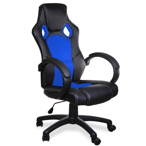 Desk Chairs For Gaming Office Desk Chairs Pu Computer Swivel Gaming Executive Office Leather Chair Ebay