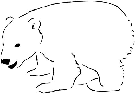 Christmas Polar Bear Coloring Page Coloring Pages Polar Coloring Pages