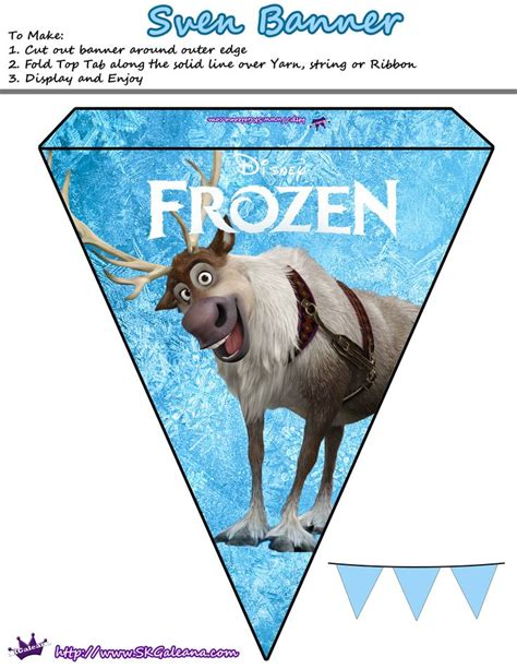 free printable olaf birthday banner 67 best images about frozen ice cream party ideas on