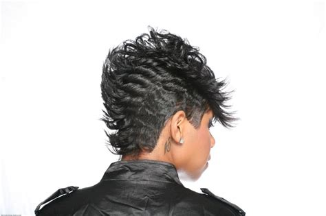 mohawk hair long in the front tappered layers leading to long front that blends into a