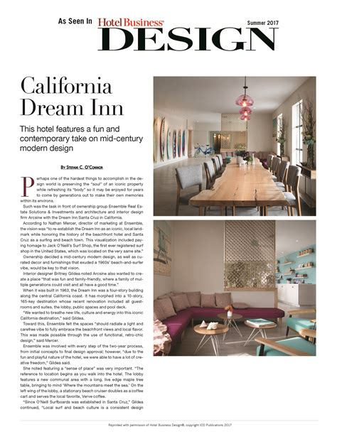 design to dream sleep inn california dream inn as seen in hotel business design
