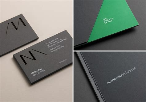 architectural business cards new logo for nicholas architects by strategy design bp o