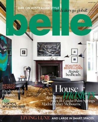 home decorating magazines australia belle magazine august september 2015 issue get your