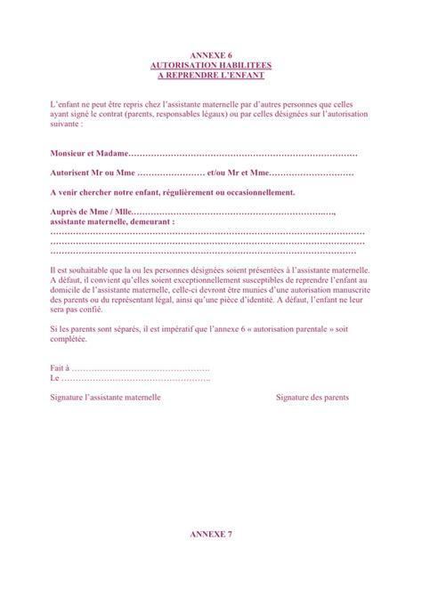 modele de lettre autorisation parentale d intervention