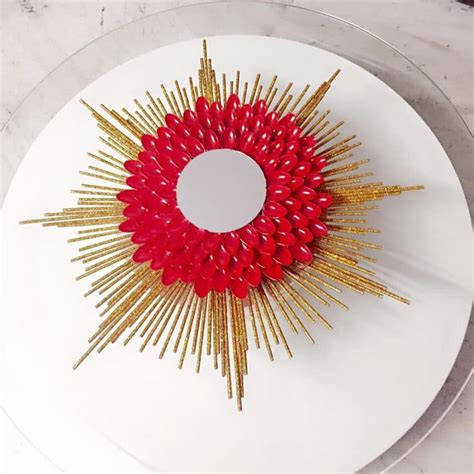 colorful mirrors how to decorate colorful mirror simple craft ideas