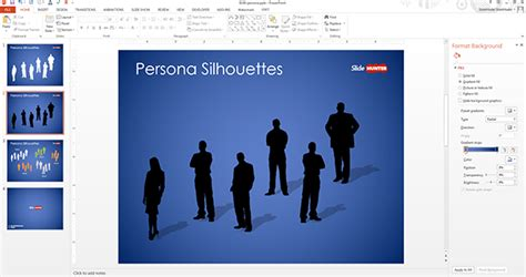 Free Persona Silhouettes Powerpoint Template Free Powerpoint Templates Slidehunter Com Persona Template Powerpoint