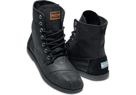 toms boots mens toms aviator twill mens utility boots in black for lyst