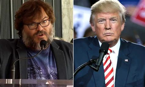 jack black hollywood star speech watch jack black goes off on piece of sh t trump at