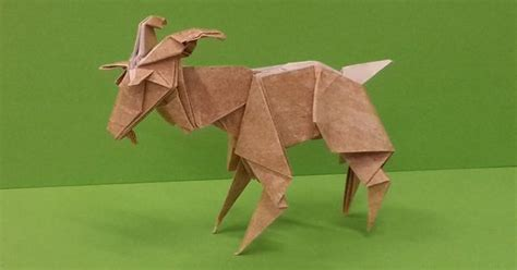 How To Make A Paper Goat - in this tutorial i will show you how to make an amazing