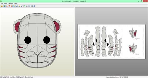 Kakashi Anbu Mask Papercraft - anbu mask 2 papercraft by sibor270898 on