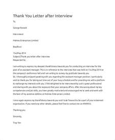 Letter Format For Thank You Letter After An Sle Thank You Letter 10 Exles In Word Pdf
