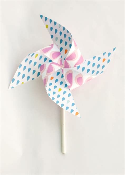 How To Make A Paper Pinwheel That Spins - summer pinwheels printable