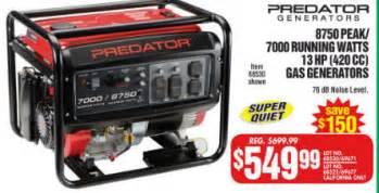 washer deals black friday predator generators 8750 peak 7000 running watts 13 hp