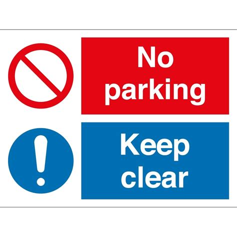 No Keep no parking keep clear signs from key signs uk