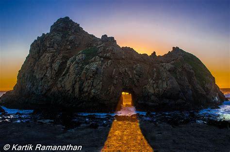 pfeiffer arch sunset pfeiffer beach big sur ca