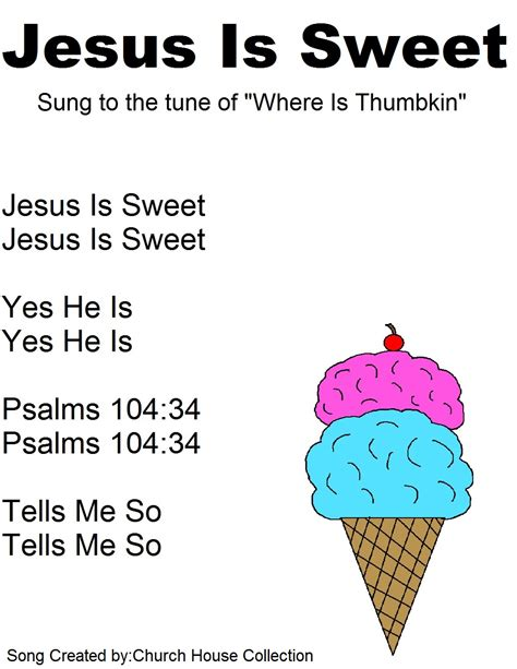 house music lyrics ice cream cone sunday school lesson
