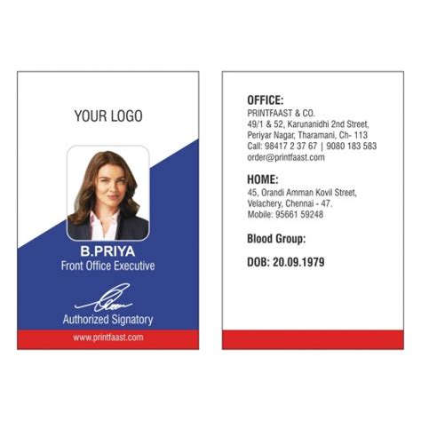 design for id card sle id cards design and printing in chennai printfaast com
