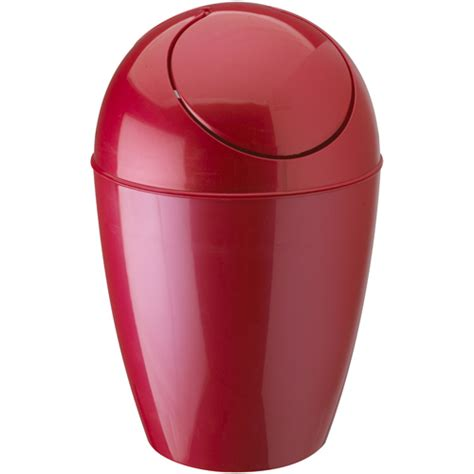 red bathroom trash can umbra plastic trash can with lid red in kitchen trash cans