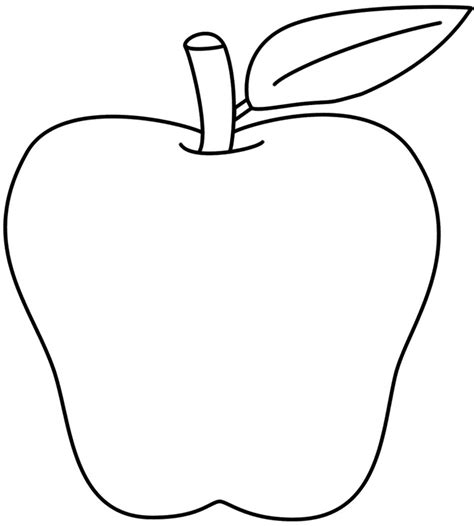 apple clipart coloring page apple drawing clipart clipartxtras