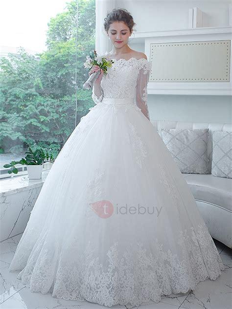 imagenes de vestidos de novia ultimos modelos vestido de novia 3 4 mangas de longitud vestido de boda