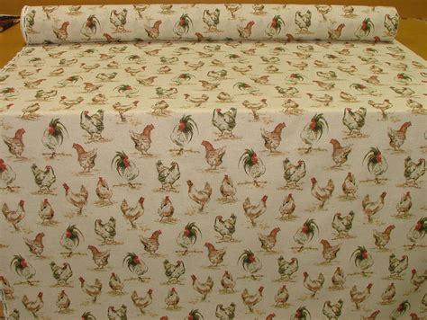 chicken hens vintage linen look animal print designs