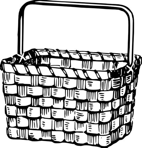 empty basket coloring page coloring home