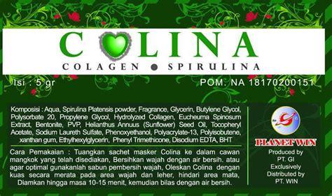 Colina Masker Wajah masker colina collagen spirulina masker colina spirulina