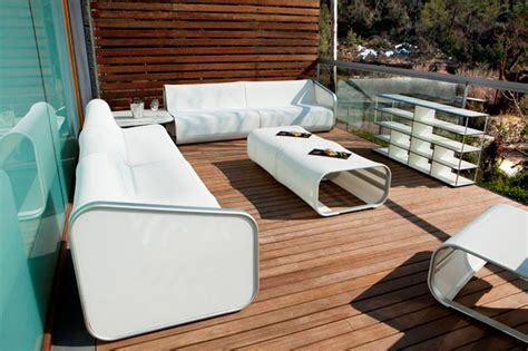 contemporary aluminum seat and sofa for outdoor motiq