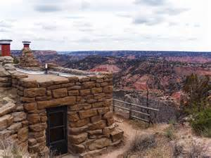 staying in the cabins at palo duro state park