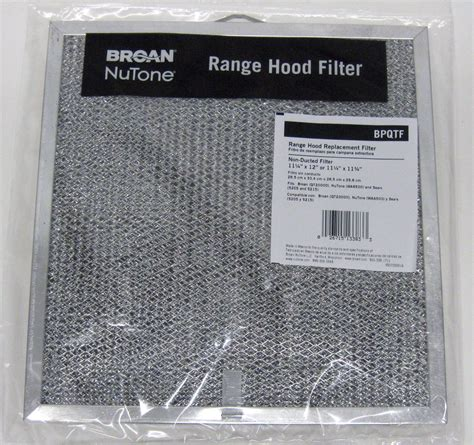 range fan filters bpqtf broan nutone vent range filter also fits
