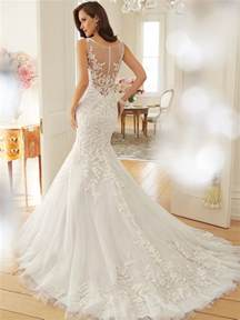 designer wedding dresses tulle wedding dress with dropped waist