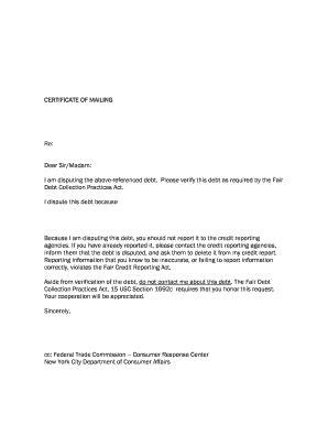 printable credit dispute letters fill printable