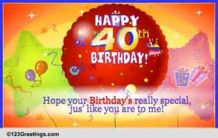free 40th birthday ecards animated