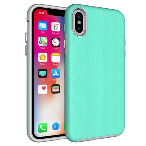 rugged cover rugged protective cover heavy duty protection for iphone x green green hurtel pl gsm