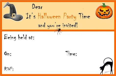 halloween cards printable halloween party invitations