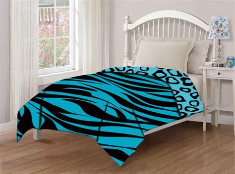 teal comforter full juvenile reversible zebra cheetah teal comforter full ebay